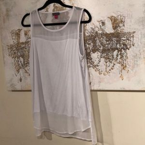 ♻️ Vince Camuto White Tank Shell blouse size M